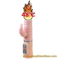 Dương vật giả tăng nhiệt độ cao cấp Heat Bunny